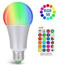 abordables Ampoules Globe LED-kwb 10w rgbw dimmable led ampoule 10w rgbw couleur changeant d'ampoule avec télécommande lumières décoratives humeur ampoule idéal pour la décoration scène fête et plus