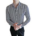 رخيصةأون قمصان رجالي-رجالي عمل الأعمال التجارية قميص, مخطط / كم طويل