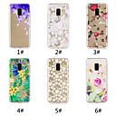 رخيصةأون حافظات / جرابات هواتف جالكسي A-غطاء من أجل Samsung Galaxy A6 (2018) / A6+ (2018) / Galaxy A7(2018) نموذج غطاء خلفي زهور ناعم TPU