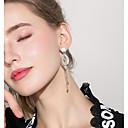 levne Náramky-Dámské Lustr Visací náušnice - Umělé diamanty Luxus Šperky Zlatá Pro Svatební Párty Jdeme ven 1 Pair
