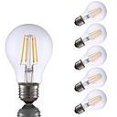abordables Lampes à Filament LED-6pcs gmy a19 led edison ampoule 4w led équivalent à ampoule à incandescence 32w avec e26 base 2700k pour chambre salon maison décoratif