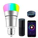 tanie Żarówki LED smart-smart led żarówka 7w wifi smart bulbsrgb biały ściemnialna kolorowe smartphone kontrolowane światło dzienne białe światło nocne nie wymaga piasty współpracuje z amazon echo alexa google home