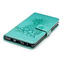 Недорогие Чехлы и кейсы для Galaxy Note 4-Кейс для Назначение SSamsung Galaxy Note 9 Кошелек / Бумажник для карт / со стендом Чехол Фрукты / Цветы Твердый Кожа PU