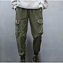 ieftine lanterne-Bărbați De Bază Zilnic Pantaloni Chinos / Pantaloni de marfă Pantaloni - Mată Negru Verde Militar XL XXL XXXL