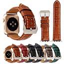 billiga Innerbelysning-Klockarmband för Apple Watch Series 4/3/2/1 Apple Klassiskt spänne Äkta Läder Handledsrem