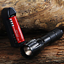 cheap Flashlights-LED Flashlights / Torch LED LED 1 Emitters 1600 lm 3 Mode with Battery and Charger Zoomable Adjustable Focus Camping / Hiking / Caving Everyday Use Cycling / Bike