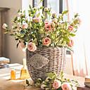 preiswerte Künstliche Blumen-Künstliche Blumen 3 Ast Klassisch Stilvoll Pastoralen Stil Rosen Tisch-Blumen