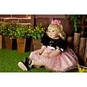ieftine Haine Păpușă Barbie-NPKCOLLECTION Păpuși Renăscute Bebe Fetiță 24 inch Cadou Draguț Artificial Implantation Brown Eyes Lui Kid Fete Jucarii Cadou