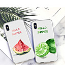 رخيصةأون أغطية أيفون-غطاء من أجل Apple iPhone XS / iPhone XR / iPhone XS Max نموذج غطاء خلفي كارتون / فاكهة ناعم TPU