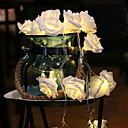 رخيصةأون خزانة المكياج و المجوهرات-ارتفع 3M سلسلة الأنوار 20 المصابيح الدافئة الأبيض حفل زفاف ديكور المنزل بطاريات أأ بالطاقة 1 مجموعة