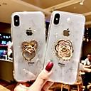 billige iPhone-etuier-Etui Til Apple iPhone XS Max / iPhone 6 Stødsikker / Med stativ Bagcover Glitterskin Blødt silica Gel for iPhone XS / iPhone XR / iPhone XS Max