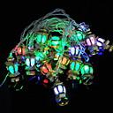 ieftine Carcase / Huse de Motorola-4m halloween Crăciun lumini de sfoară aur palat lampă 20 leduri multi culori decorative 220-240 v 1 set