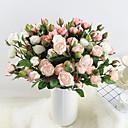 preiswerte Künstliche Blumen-Künstliche Blumen 3 Ast Klassisch Stilvoll Europäisch Rosen Ewige Blumen Tisch-Blumen
