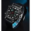 preiswerte Uhren Herren-ASJ Herrn Uhr Sportuhr Digitaluhr Japanisch Japanischer Quartz Echtes Leder Schwarz 100 m Armbanduhren für den Alltag Analog-Digital Freizeit Modisch Schwarz / Zwei jahr / Zwei jahr