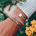 preiswerte Kaffee-Zubehör-Damen Seil Wickelarmbänder Einfach Retro Europäisch Armbänder Schmuck Blau Für Alltag