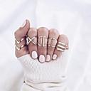povoljno Prstenje-Žene Geometrijski Prsten Prstenasti set Sretan pomodan Moda Boho Elegantno Modno prstenje Jewelry Zlato Za Party Dnevno Ulica Kamado roštilj 5pcs