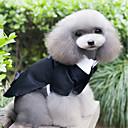 رخيصةأون ملابس وإكسسوارات الكلاب-كلاب ملابس السهرة للرجال ملابس الكلاب بسيط عتيقة أسود الاكريليك وألياف كوستيوم من أجل ربيع & الصيف الصيف ذكر بريطاني