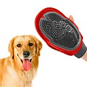 cheap Dog Clothing & Accessories-Dogs Brushes Cleaning Brush Baths Double-Sided Massage washable Red