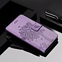 Недорогие Чехлы и кейсы для Galaxy S4 Mini-Кейс для Назначение SSamsung Galaxy Galaxy A7(2018) / Galaxy A9 (2018) / Galaxy A10 (2019) Кошелек / Бумажник для карт / со стендом Чехол Кот / дерево Твердый Кожа PU