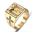 billige Halskæder-Herre Retro Indgraveret Ring Signet Ring Titanium Stål Mode Moderinge Smykker Guld Til Gave Daglig