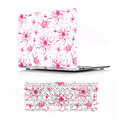 "cheap Mac Cases & Mac Bags & Mac Sleeves-MacBook Case with Protectors Flower PVC(PolyVinyl Chloride) for MacBook Air 13-inch / New MacBook Pro 15-inch / New MacBook Air 13"" 2018"