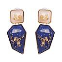 저렴한 귀걸이-여성용 드랍 귀걸이 레진 귀걸이 과장 보석류 레드 / 그린 / 블루 제품 결혼식 이브닝 파티 카니발 클럽 바 1 쌍