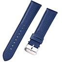 זול רצועות שעון-עור אמיתי / עור / Calf Hair צפו בנד רצועה ל כחול 17cm / 6.69 אינץ ' / 18cm / 7 אינצ'ים / 19cm / 7.48 אינצ'ים 1cm / 0.39 אינצ'ים / 1.2cm / 0.47 אינצ'ים / 1.3cm / 0.5 אינצ'ים