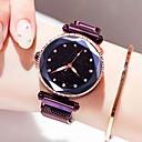 levne Dámské-Dámské Náramkové hodinky zlaté hodinky Křemenný Nerez Černá / Modrá / Fialová 30 m Voděodolné Nový design Analogové Třpyt Módní - Fialová Modrá Růžové zlato