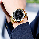 ieftine Brățări-Bărbați Ceas Elegant Quartz Negru / Argint / Auriu Rezistent la Apă Calendar Cronograf Analog Casual Modă - Negru Argintiu Roz auriu / Iluminat