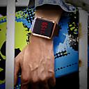 levne Pánské-Pánské Náramkové hodinky Digitální Silikon Černá Voděodolné LCD Digitální Módní Barevná - Stříbrná Fialová Růžové zlato