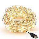 ieftine Benzi Lumină LED-5m Fâșii de Iluminat 50 LED-uri SMD 0603 Alb Cald / Alb / Roșu Ce poate fi Tăiat / Petrecere / Decorativ 5 V