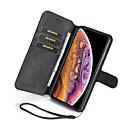 Недорогие Бинокли-Nillkin Кейс для Назначение Apple iPhone XR / iPhone XS Max Бумажник для карт / со стендом Чехол Однотонный Твердый Кожа PU для iPhone XS / iPhone XR / iPhone XS Max