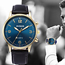 ieftine Ceasuri Bărbați-Bărbați Ceas de Mână Quartz Piele Negru / Albastru / Maro Cronograf Ceas Casual Analog Modă minimalist - Albastru Deschis Auriu+Negru Auriu+Alb Un an Durată de Viaţă Baterie