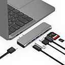 cheap USB Hubs & Switches-LENTION CB-TP-CS64THCR USB 3.0 Type C to HDMI 2.0 / Thunderbolt / USB 3.0 / USB 3.0 Type C / SD Card USB Hub 9 Ports High Speed / with Card Reader(s) / Support Power Delivery Function / Support