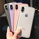 رخيصةأون بادة ماوس الكمبيوتر-غطاء من أجل Apple iPhone XS / iPhone XR / iPhone XS Max مثلج / شفاف غطاء خلفي لون سادة ناعم TPU