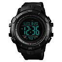 levne Pánské-SKMEI Pánské Vojenské hodinky Křemenný Silikon Černá / Zelená 50 m Armáda Voděodolné Alarm Digitální Outdoor Módní - Modrá Zlatá Tmavě zelená Jeden rok Životnost baterie