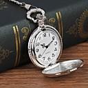رخيصةأون ساعات الرجال-رجالي ساعة جيب كوارتز فضة ساعة كاجوال طرد كبير مماثل التقليدية / المعتقة كاجوال - فضي