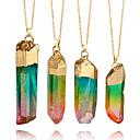 رخيصةأون أساور-نسائي قلائد الحلي عقد الماس تقطيعه طاقة حجر التقزح اللوني 8 cm قلادة مجوهرات 1PC من أجل مهرجان