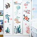 Χαμηλού Κόστους Διακοσμητικά αυτοκόλλητα-cartoon υποβρύχια αυτοκόλλητα κόσμο παιδικό δωμάτιο υπνοδωμάτιο τοίχο διακόσμηση νηπιαγωγείο θαλάσσιο τοίχο αυτοκόλλητα μικρά αυτοκόλλητα ψαριών ins