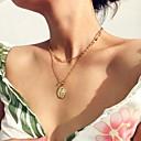 preiswerte Mehrreihen Halskette-Damen Pendant Halskette Halskette Layered Ketten Romantisch Elegant Chrom Gold Silber 35 cm Modische Halsketten Schmuck 1pc Für Geschenk Alltag Klub Festival / Lange Halskette