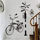 رخيصةأون ملصقات ديكور-الإبداعية غرفة المعيشة أريكة خلفية الديكور رسمت باليد دراجة ملصقات شخصية غرفة الدراسة الممر الشرفة دراجة ملصقات الحائط