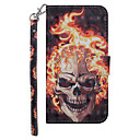 cheap Other Cases-Case For Nokia Nokia 5.1 Wallet / Card Holder / with Stand Full Body Cases Skull Hard PU Leather for Nokia 5.1