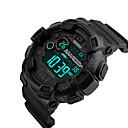 cheap Men's Watches-SKMEI Men's Digital Watch Digital Silicone Black 50 m Water Resistant / Waterproof Calendar / date / day Dual Time Zones Digital Casual Outdoor - Gold Black Red