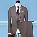 ieftine Ustensile de Gătit-Bărbați Mărime Plus Size Costume Rever Clasic Poliester Negru / Gri / Maro Deschis / Zvelt
