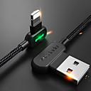 billige iPhone-kabler og -adaptere-Belysning Kabel 1m-1.99m / 3ft-6ft Flettet / Hurtig opladning Nylon USB-kabeladapter Til iPhone