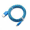 رخيصةأون شاحن مع كابل-USB مصغر كابل جديلي / الشحن السريع المواد الخاصة محول كابل أوسب من أجل Macbook / iPad / Samsung