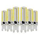 ieftine Becuri LED Bi-pin-ywxlight® 6pcs g9 bec de silicon de dimensiuni reduse 3014 smd lampă de economisire a energiei de 770W (70w halogen echivalent) bec cu led pentru iluminarea casei 110-130v 220-240v