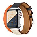 ieftine Audio & Video-Tricot din piele dublă pentru seria de ceas de mere 4 3 2 1 centură de piele brățară centură de mână centură de ceas pentru seria iwatch 42mm 38mm 40mm 44mm brățară de ceas