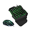 cheap Mouse Keyboard Combo-LITBest USB Wired Mouse Keyboard Combo Color Gradient / Backlit Mechanical Keyboard / Gaming Keyboard / Single Hand Waterproof / with Wrist Rest Gaming Mouse 2400 dpi