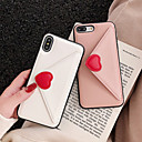 levne iPhone pouzdra-Carcasă Pro Apple iPhone XS Max / iPhone 6 Pouzdro na karty Zadní kryt Srdce Pevné PU kůže pro iPhone XS / iPhone XR / iPhone XS Max